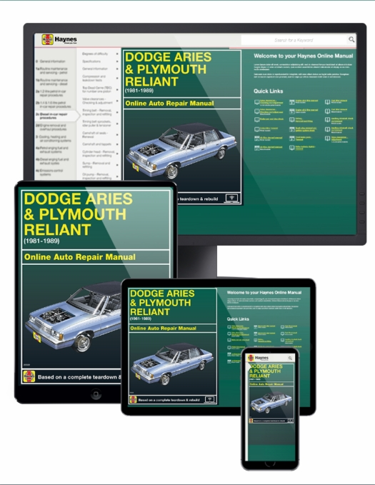 Dodge Aries & Plymouth Reliant Online Service Manual, 1981-1989