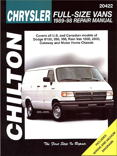 dodge full size van repair manual by chilton 1989 1998 rh themotorbookstore com 1993 Dodge Ram Van 1985 Dodge Ram Van