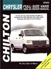 Dodge B150, 250, 350, Ram Van 1500, 2500 Repair Manual 1989-1998