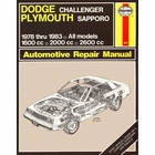 Dodge Challenger, Plymouth Sapporo Repair Manual 1978-1983