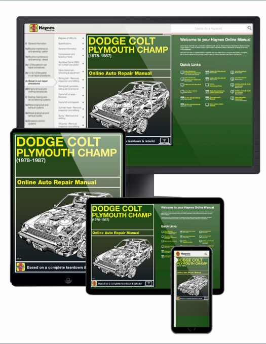 Dodge Colt & Plymouth Champ Online Service Manual, 1978-1987