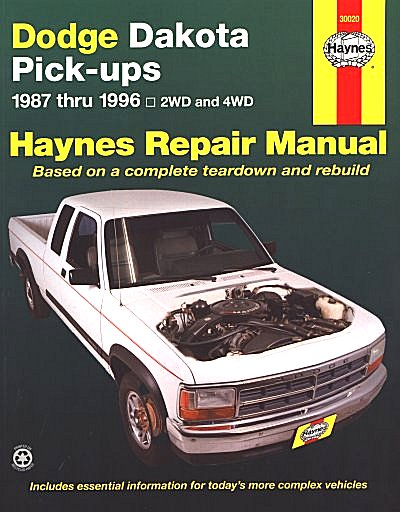 Dodge Dakota 2wd 4wd Repair Manual 19871996 Haynes 30020. Dodge Dakota Pickup Truck Repair Manual 19871996. Dodge. Schematic 1995 Dodge Dakota 6 Cyl At Scoala.co