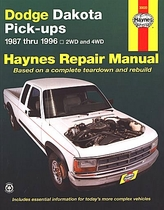 dodge dakota 2wd 4wd repair manual 1987 1996 haynes 30020 rh themotorbookstore com 99 Dodge Dakota Repair Manual 99 Dodge Dakota Repair Manual