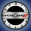 Dodge Logo Wall Clock, LED Lighted