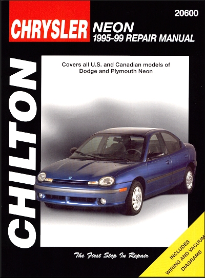 dodge neon plymouth neon repair manual 1995 1999 chilton 20600 rh themotorbookstore com 1999 dodge neon manual transmission fluid 2005 Dodge Neon