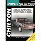 Dodge, Plymouth Chassis Cab, Ramcharger, Trail Duster Repair Manual 1967-1988