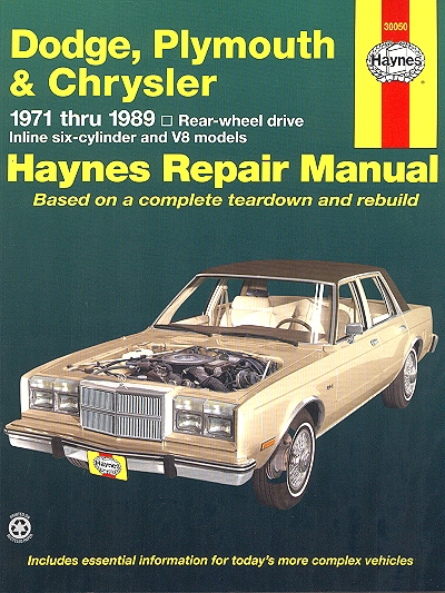 dart demon challenger aspen diplomat repair manual 1971 1989 rh themotorbookstore com 1968 dodge charger repair manual 1969 dodge charger service manual pdf