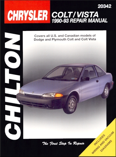 dodge plymouth colt colt vista repair manual chilton 1990 1993 rh themotorbookstore com