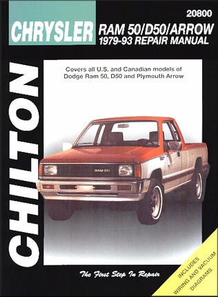 dodge ram 50 d50 plymouth arrow repair manual 1979 1993. Black Bedroom Furniture Sets. Home Design Ideas