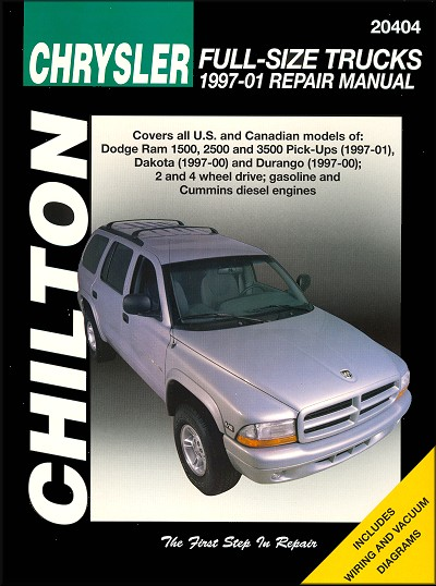 dodge ram dakota durango repair manual 1997 2001 chilton rh themotorbookstore com 2001 dodge ram 1500 haynes manual 2001 dodge ram 1500 repair manual