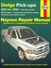 Dodge Ram Pick-Ups V6, V8, V10 Gas & Cummins Turbo-Diesel Engines Repair Manual 2002-2008