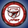 Dodge Viper Wall Clock, LED Lighted