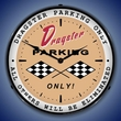Dragster Parking Wall Clock, LED Lighted: Racing Theme