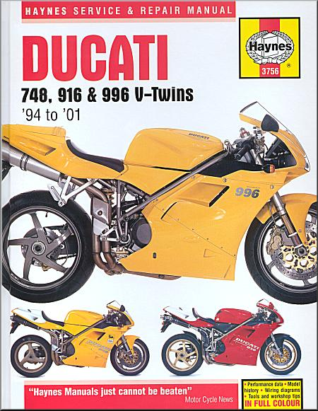 Ducati 748 916 996 Repair Manual 1994 2001 Haynes 3756