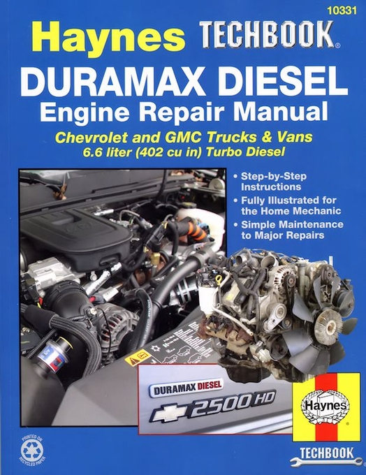 duramax diesel engine repair manual 2001 2012 gm 6 6l rh themotorbookstore com GM 6.6L Duramax Diesel Engine New Chevy Diesel Engine