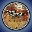 English Setters Wall Clock, LED Lighted