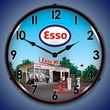 Esso Station Wall Clock, LED Lighted: Gas / Oil Theme