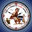 Esso Tiger Wall Clock, LED Lighted: Gas / Oil Theme