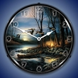 Evening Glow Wall Clock, LED Lighted