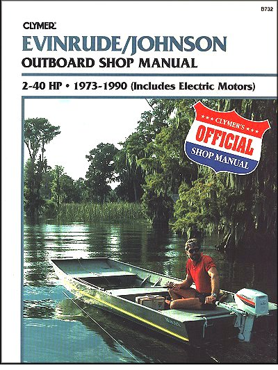 evinrude johnson outboard repair manual 2 40 hp 1973 1990. Black Bedroom Furniture Sets. Home Design Ideas