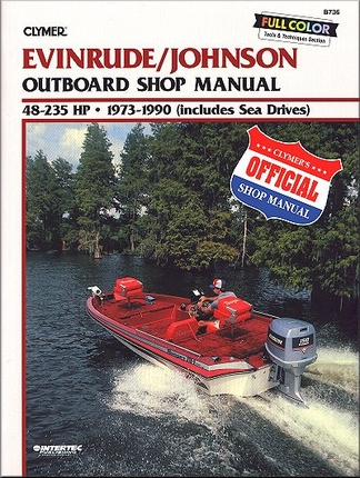 evinrude johnson outboard repair manual 48 235 hp 1973 1990. Black Bedroom Furniture Sets. Home Design Ideas