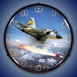 F-106 5th FIS Wall Clock, Lighted: Airplane Theme