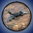 F-16 Falcon Wall Clock, Lighted: Airplane Theme