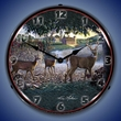 Field Of Dreams Deer Wall Clock, LED Lighted