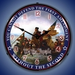 First and Second Amendment Wall Clock, LED Lighted
