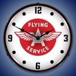 Flying A Service Wall Clock, LED Lighted