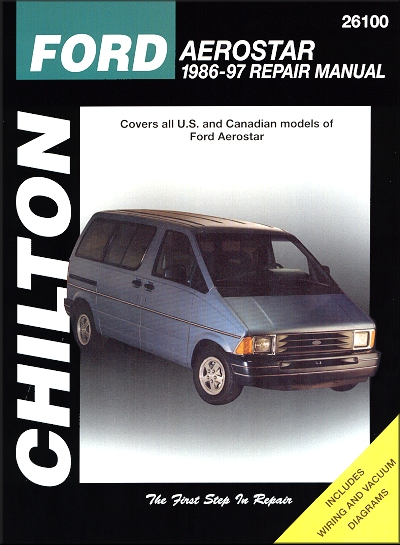 ford aerostar van repair manual 1986 1997 rh themotorbookstore com 1995 Ford Aerostar Engine Assembly ford aerostar repair manual