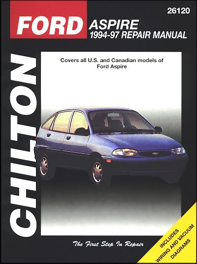 ford aspire repair workshop manual 1994 1997 chilton 26120 rh themotorbookstore com 1994 Ford Aspire Rear Strut Troubleshoot 1994 Ford Aspire