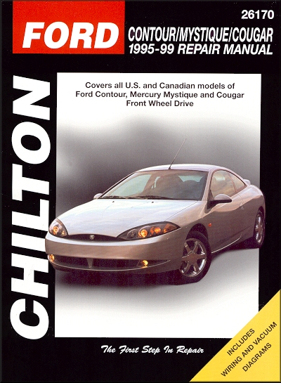 contour mystique cougar repair manual 1995 1999 chilton 26170 rh themotorbookstore com 1996 Mercury Mystique MPG 1996 Mercury Mystique Wiring-Diagram