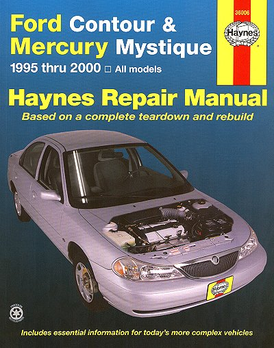 ford contour mercury mystique repair manual 1995 2000 haynes rh themotorbookstore com 1997 mercury cougar xr7 repair manual 1997 Mercury Villager