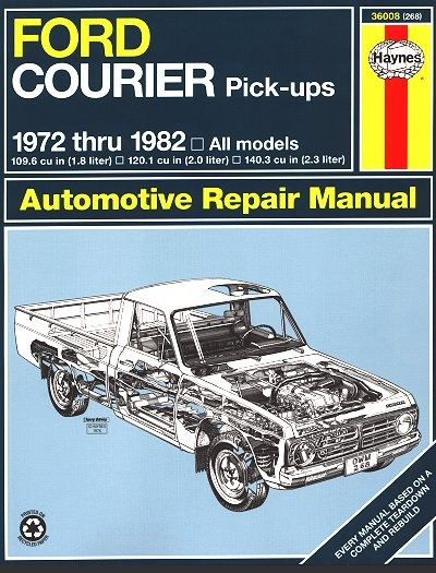 ford courier pickup truck repair manual 1972 1982 haynes rh themotorbookstore com 2006 ford courier service manual ford transit courier owners manual