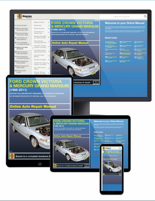Ford Crown Victoria/Grand Marquis Online Service Manual, 1988-2011