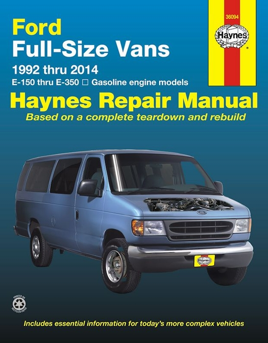 ford econoline e150  e250  e350 repair manual 1992