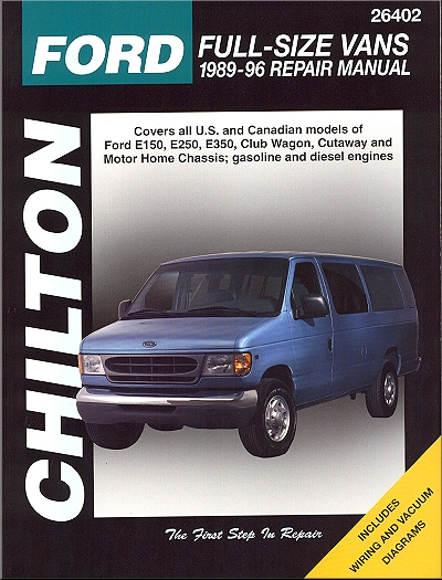 ford econoline van repair manual by chilton 1989 1996. Black Bedroom Furniture Sets. Home Design Ideas