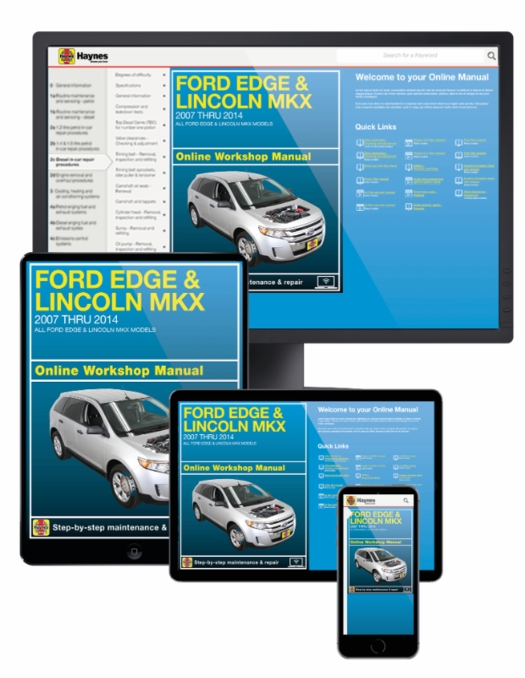 ford edge lincoln mkx  service manual