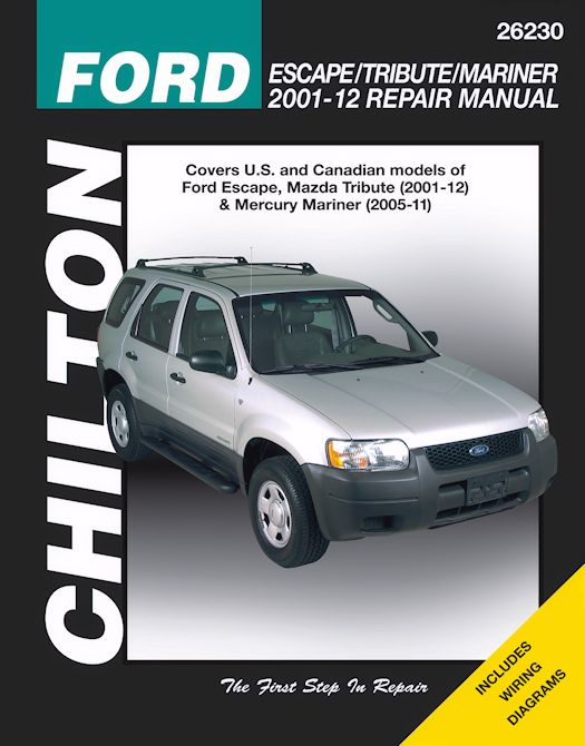 ford escape mazda tribute mercury mariner repair manual 2001 2012 rh themotorbookstore com 2018 Ford Escape 2018 Ford Escape