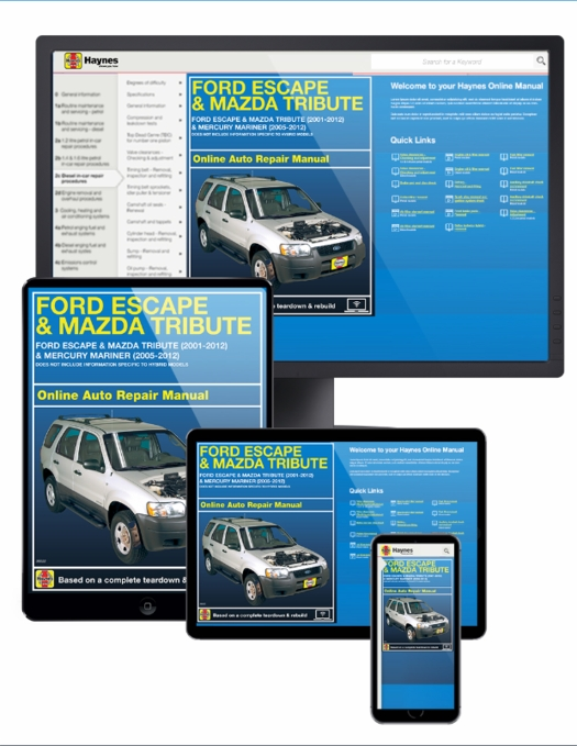 ford escape mazda tribute online service manual 2001 2012 rh themotorbookstore com Mazda 4 Door owners manual mazda tribute 2008