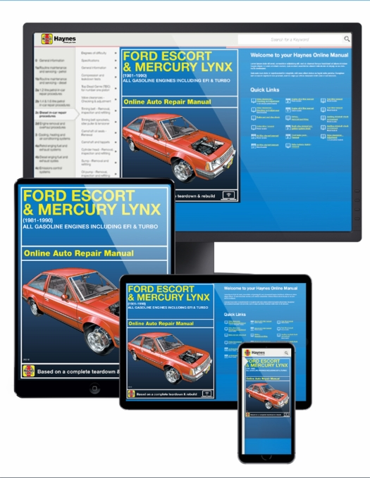 Ford Escort & Mercury Lynx Online Service Manual, 1981-1990