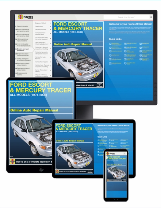 Ford Escort & Mercury Tracer Online Service Manual, 1991-2002