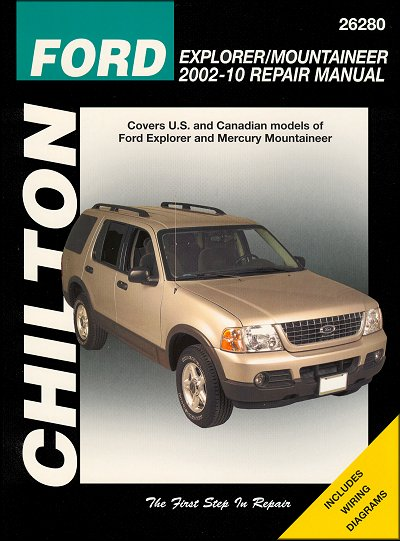 ford explorer mercury mountaineer repair manual 2002 2010 chilton rh themotorbookstore com Ford Escape Repair Manual P0446 2010 ford escape repair manual
