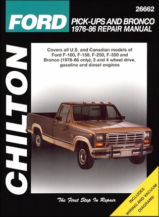 ford f100 f150 f250 f350 bronco repair manual 1976. Black Bedroom Furniture Sets. Home Design Ideas