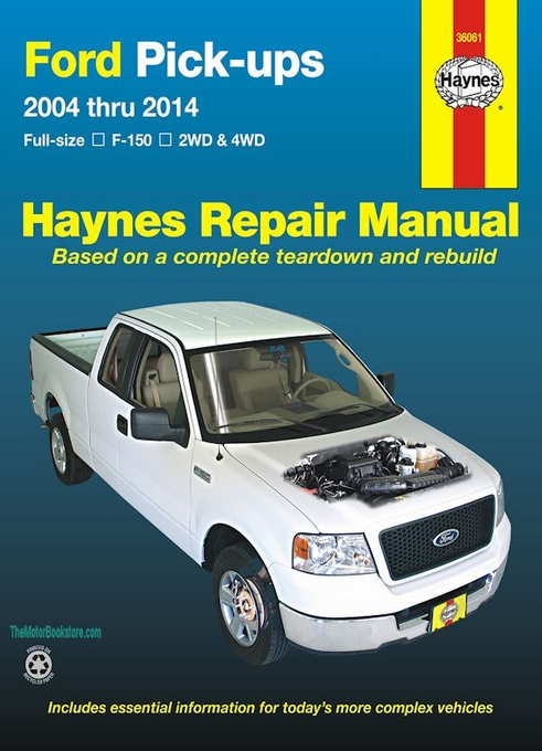 ford f150 pickup truck repair manual 2004 2014 haynes 36061 rh themotorbookstore com Haynes Manuals for 2003 Jeep Haynes Manual Monte Carlo Back