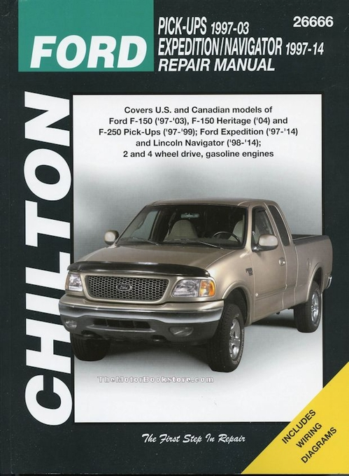 ford f150 f250 expedition lincoln navigator repair manual 1997 2014 rh themotorbookstore com ford f150 owners manual 2016 ford f150 owners manual