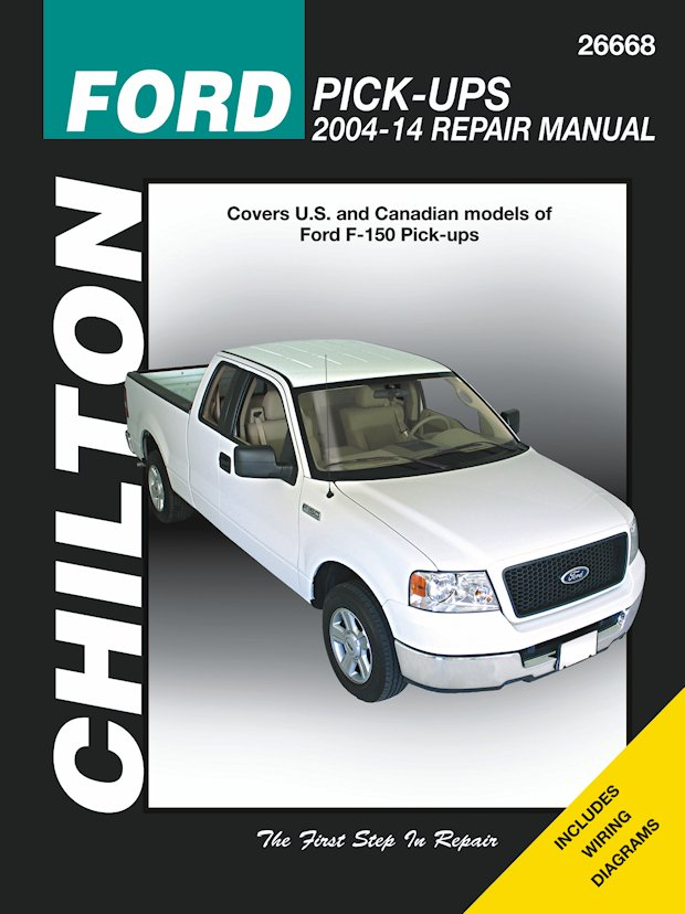 ford f150 v6 v8 pickup truck repair manual 2004 2014 chilton rh themotorbookstore com F-150 Manual Transmission F-150 Manual Transmission