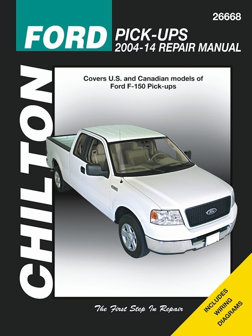 Ford F V V Pickup Truck Repair Manual   Chilton Rh Themotorbookstore Com  Ford Escape Parts Manual  Ford F Repair Manual Pdf Free