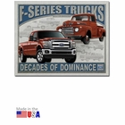 """Ford F-Series Trucks: Decades of Dominance"" Tin Sign"